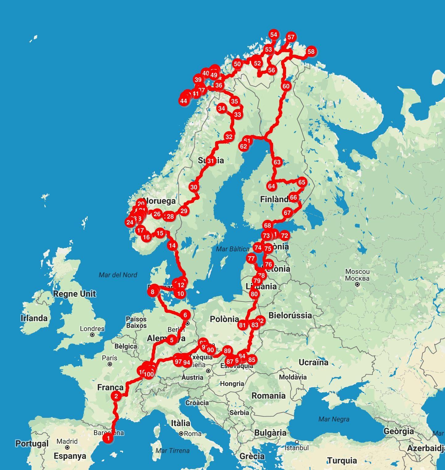 36ab5ba710e Recorrido vuelta a Europa en autocaravana Viajes A Noruega, Ruta De Viaje, Viajes  Por