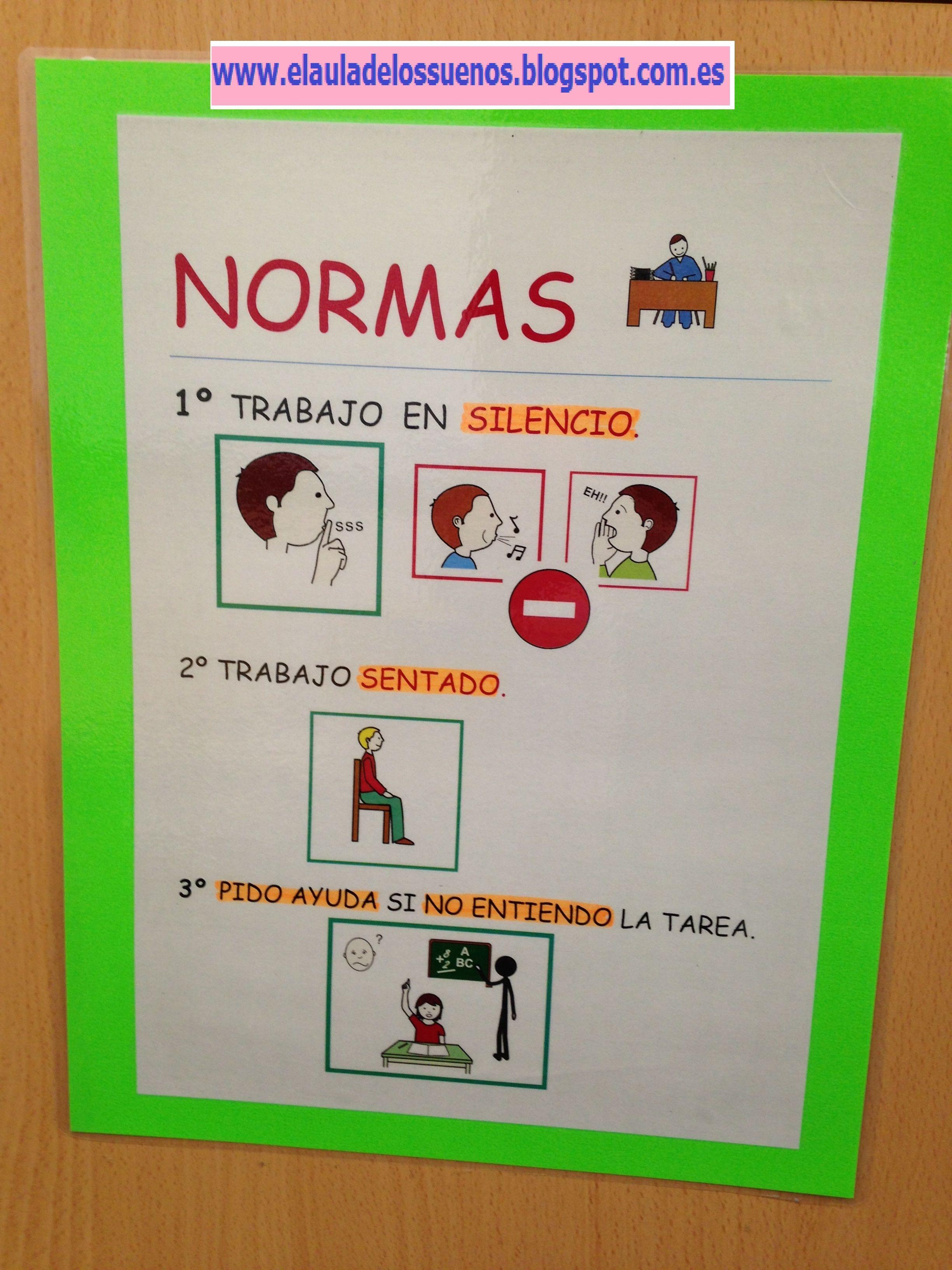 Normas De Trabajo En Mesa Adaptadas Con Pictogramas Actividades Para Niños Autistas Horario Para Niños Ejercicios Lenguaje