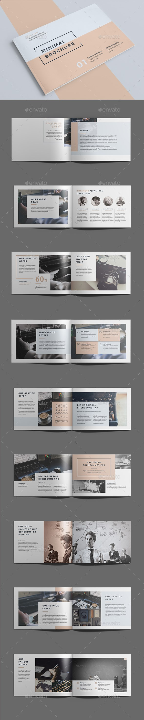 Minimal Brochure Template InDesign INDD. Download here: graphicriver ...