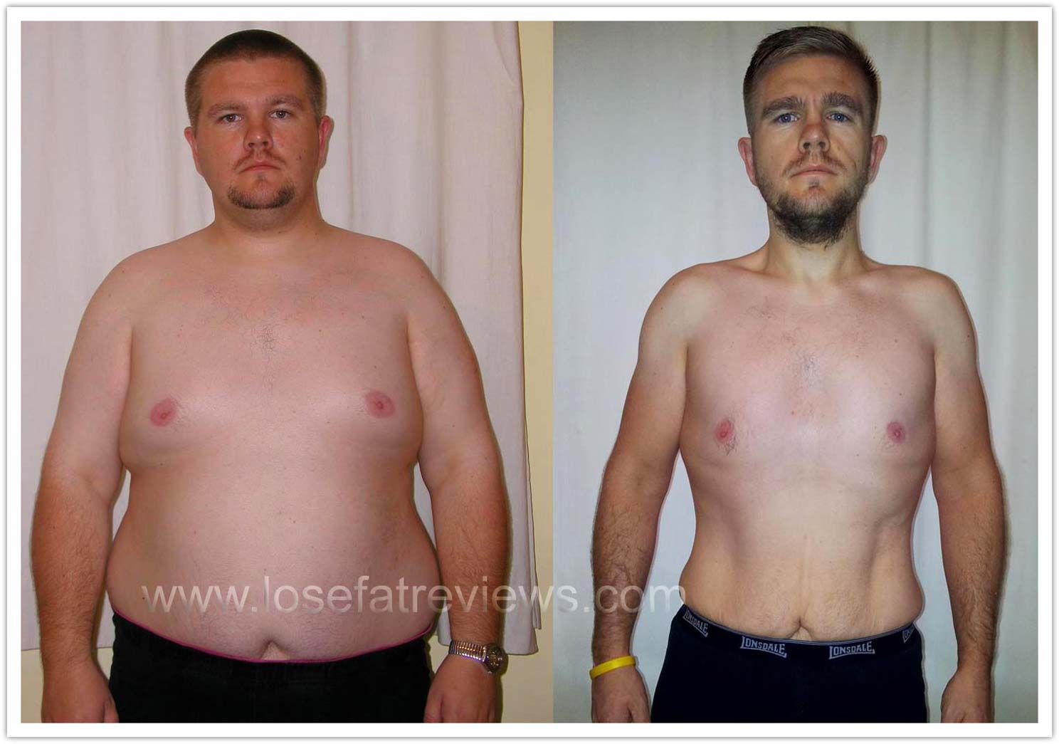 weight loss pictures male
