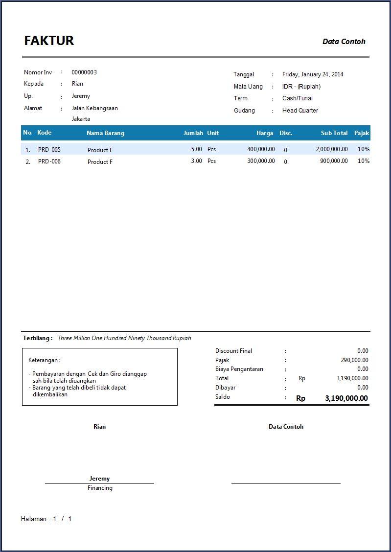 Download Format Invoice Yang Benar – Contoh Proforma Invoice