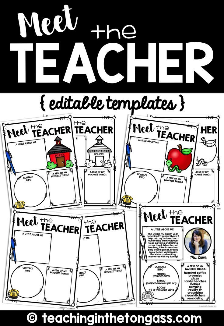 meet the teacher template editable meet the teacher