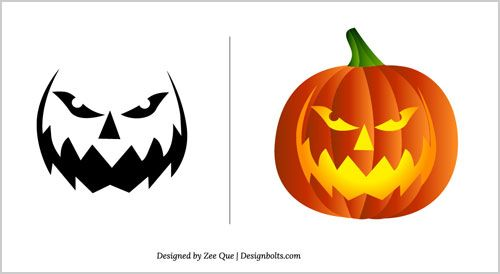 Free Pumpkin Carving Patterns 2017 15 Scary Stencils In Vector Format Design Bolts