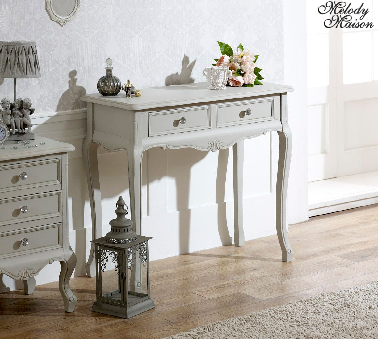 Bedroom Sofa Table: 2 Drawer Console/Dressing Table