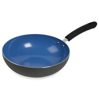 Denmark Tools For Cooks 11 Inch Chef S Pan With Blue Ecotech Plus Ceramic Nonstick Coating Bedbathandbeyond Com Ceramics Blue Ceramics Stainless Steel Pans