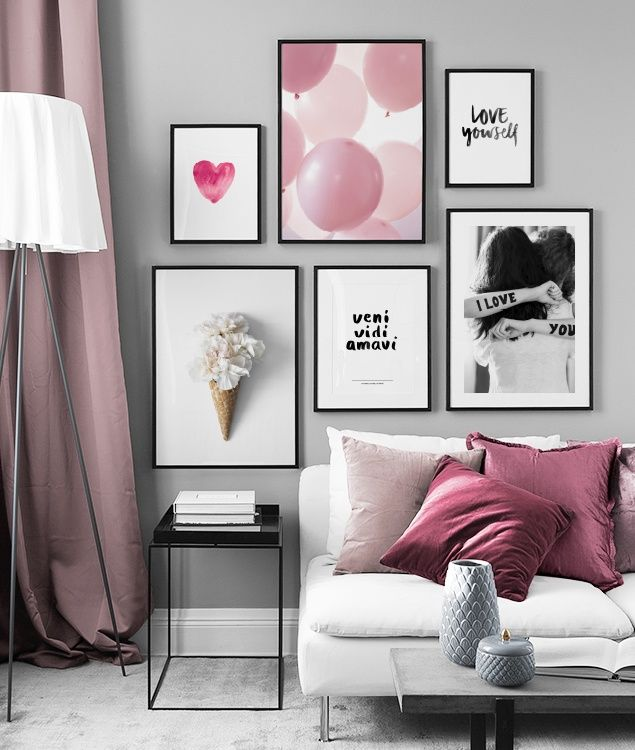 Picture wall inspiration | Stylish gallery walls at Desenio