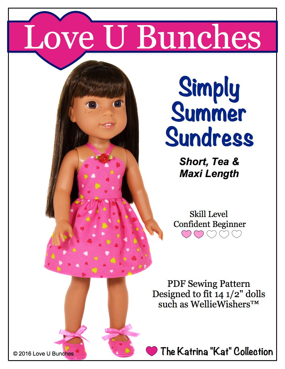 Simply summer sundress for welliewishers dolls ag pinterest