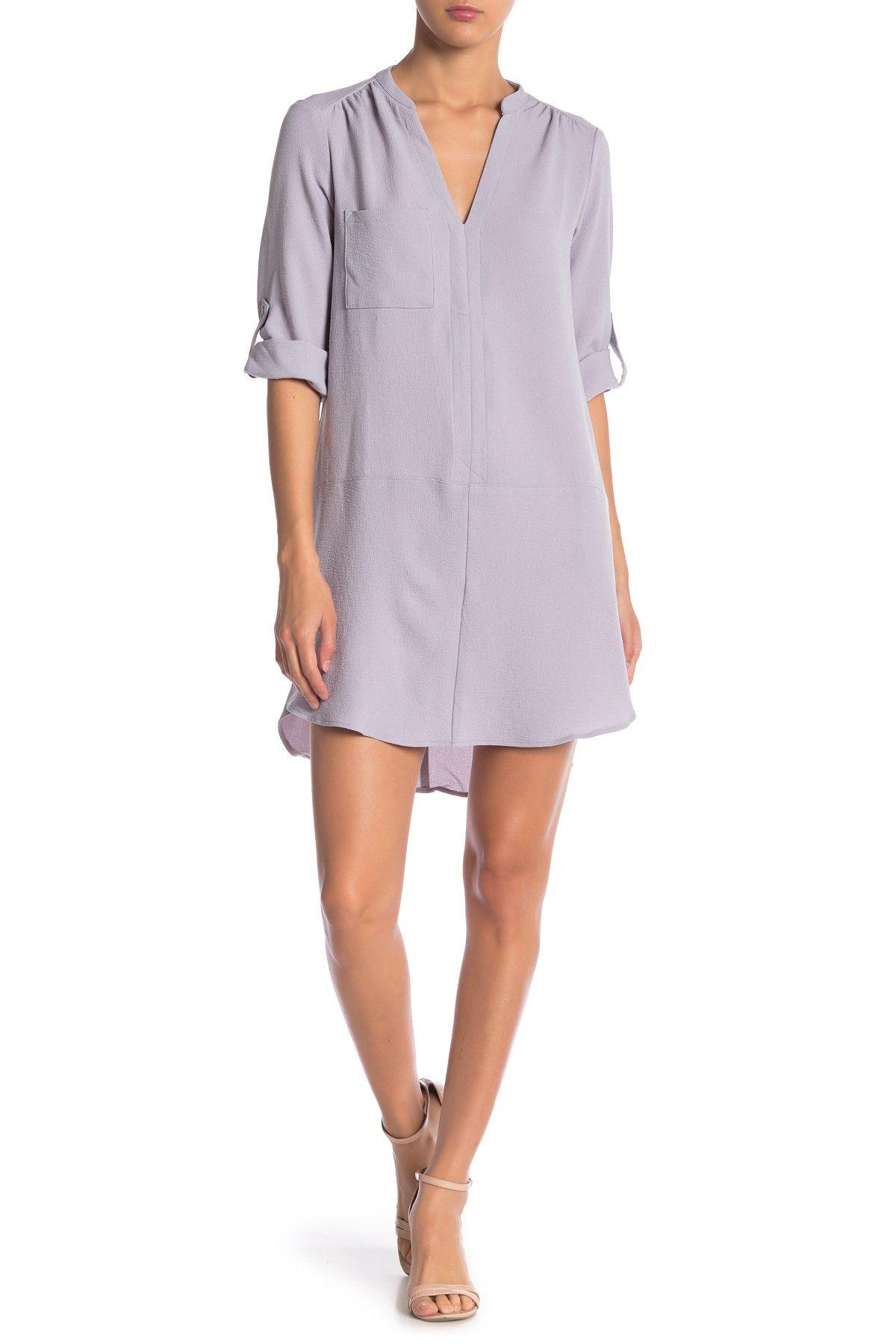 Lush Novak 3 4 Sleeve Shift Dress Nordstrom Rack Classic Shirt Dress Clothes Clearance Clothes [ 1800 x 1200 Pixel ]