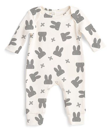 9845d53a0 Another great find on  zulily! Ivory Rabbit Playsuit - Newborn ...
