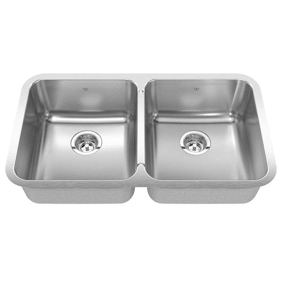 Kitchen Sinks At Lowes Kindred qdua18318 steel queen undermount 30875 in double kitchen kindred qdua18318 steel queen undermount 30875 in double kitchen sink lowes canada workwithnaturefo