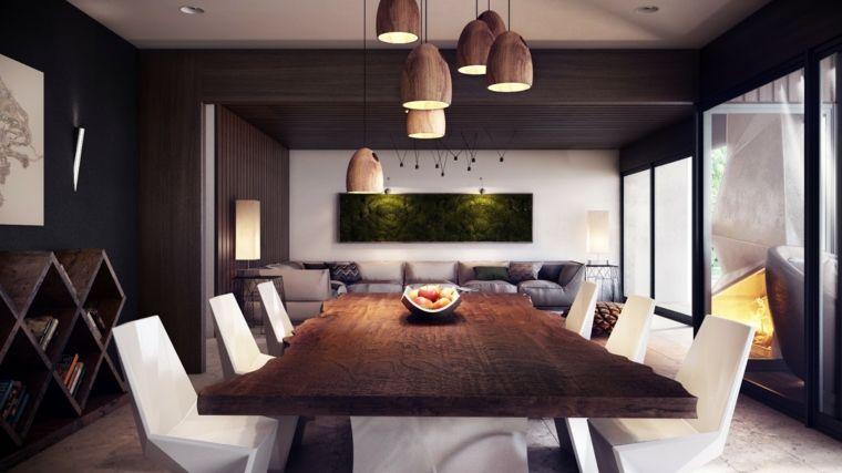 Sedie Bianche Design : Open space rettangolare con soluzioni di design tavolo in legno e