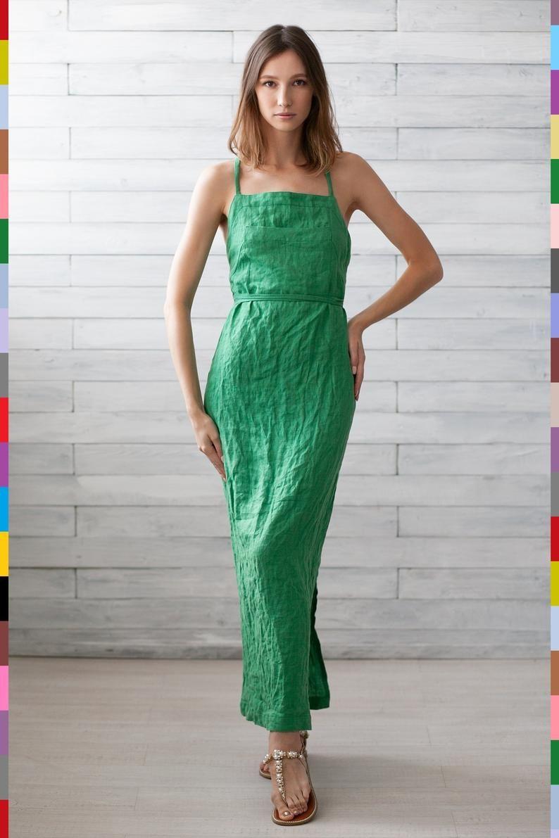 100% pure linen (Italy). Linen dress. Flax dress. Linen tunic. Italian linen #linentunic