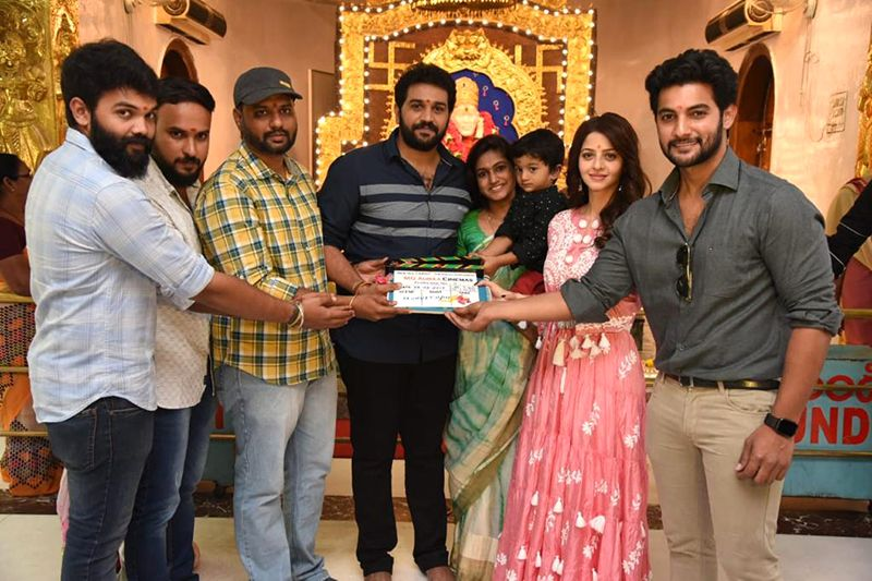 Aadi Saikumar and Vedhika share screen space for a bilingual film