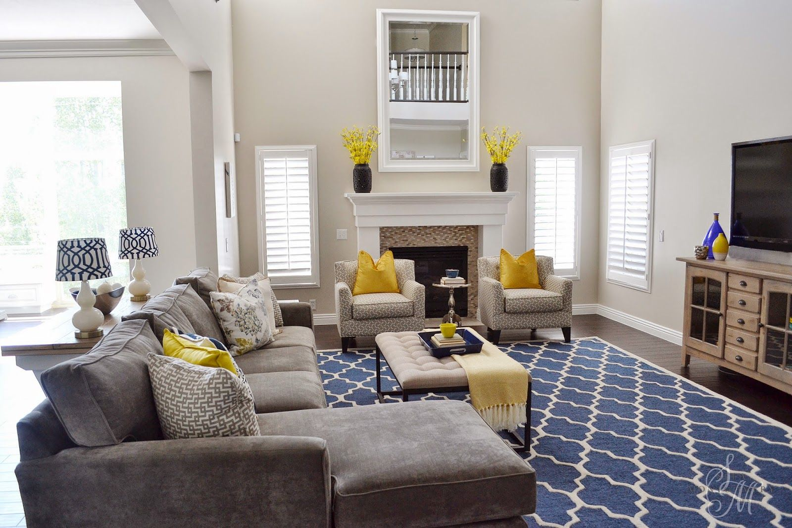 Client Project Reveal The Summerwood Project Renovation Sita Montgomery Interiors Yellow Living Room Yellow Decor Living Room Blue And Yellow Living Room Living room ideas yellow