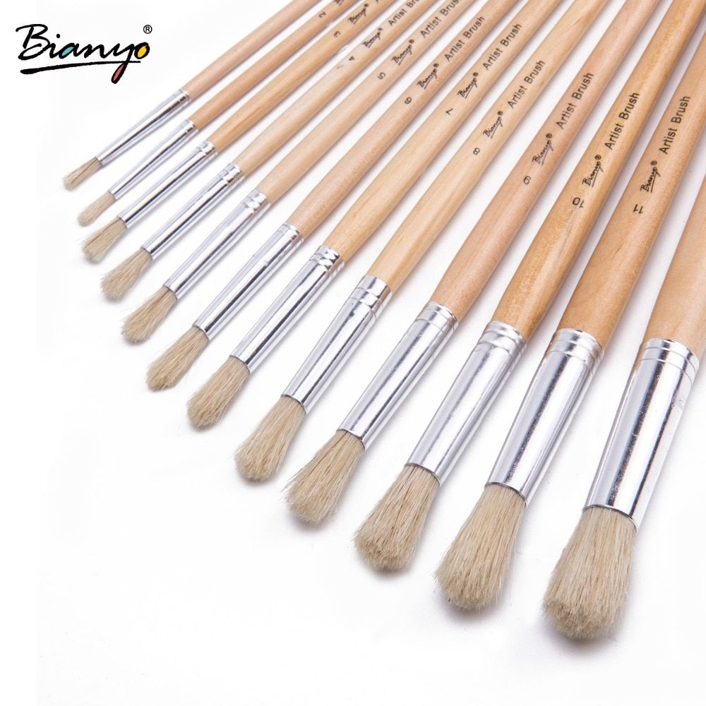 Watercolor Brushes Set Of 10 Synthetic Sable Artist Paint Brushes
