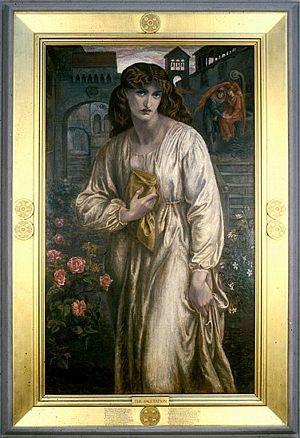 The Salutation of Beatrice (1880-1)   Dante Gabriel Rossetti