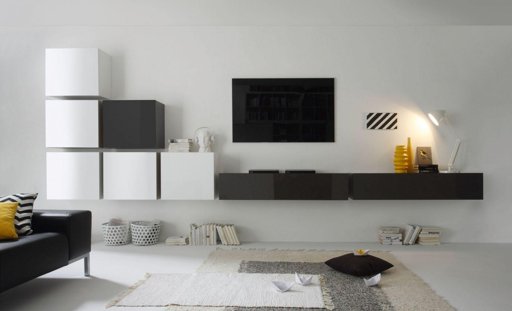 Bemerkenswert Wohnwand Modern Ideen Von Grau