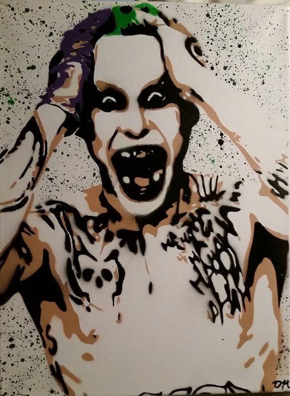 The Joker- Stencil Art -16x20 Canvas Designers and their work