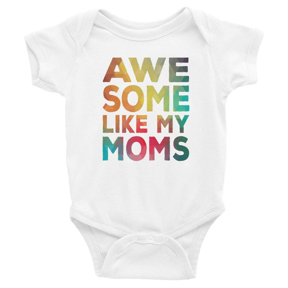 Two moms baby bodysuit LGBT baby bodysuit Baby Shower Gift Two mommies