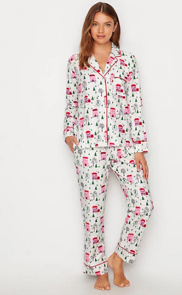 0f1739e5f kate spade new york Brushed Twill Flannel Pajama Set