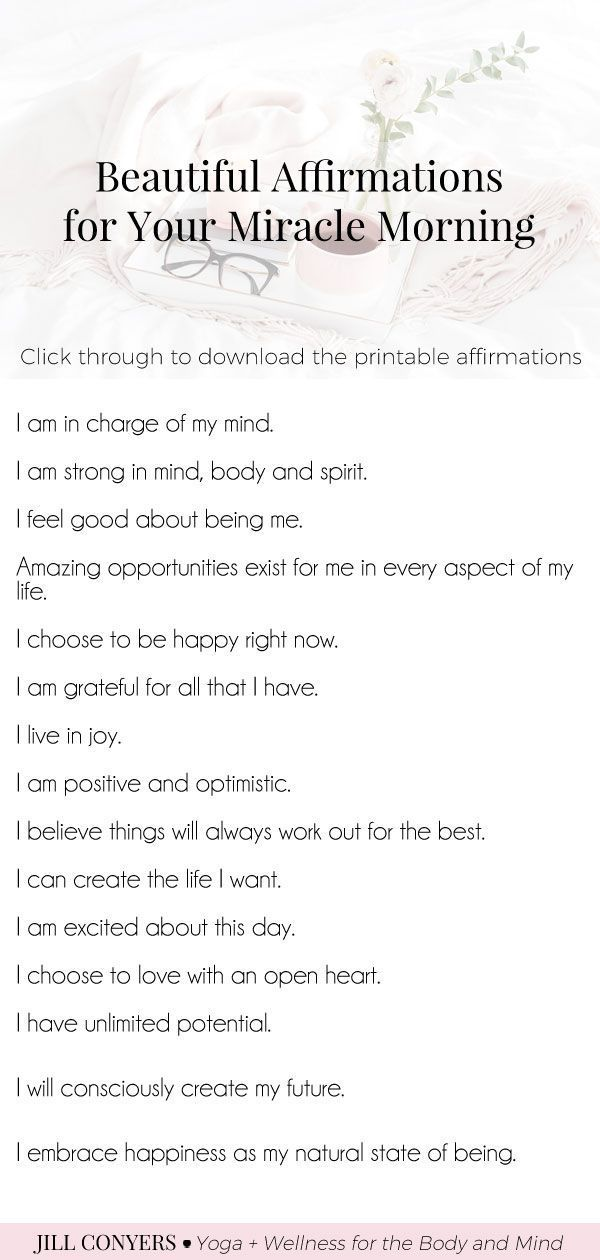 Beautiful Affirmations For Your Miracle Morning - Jill Conyers