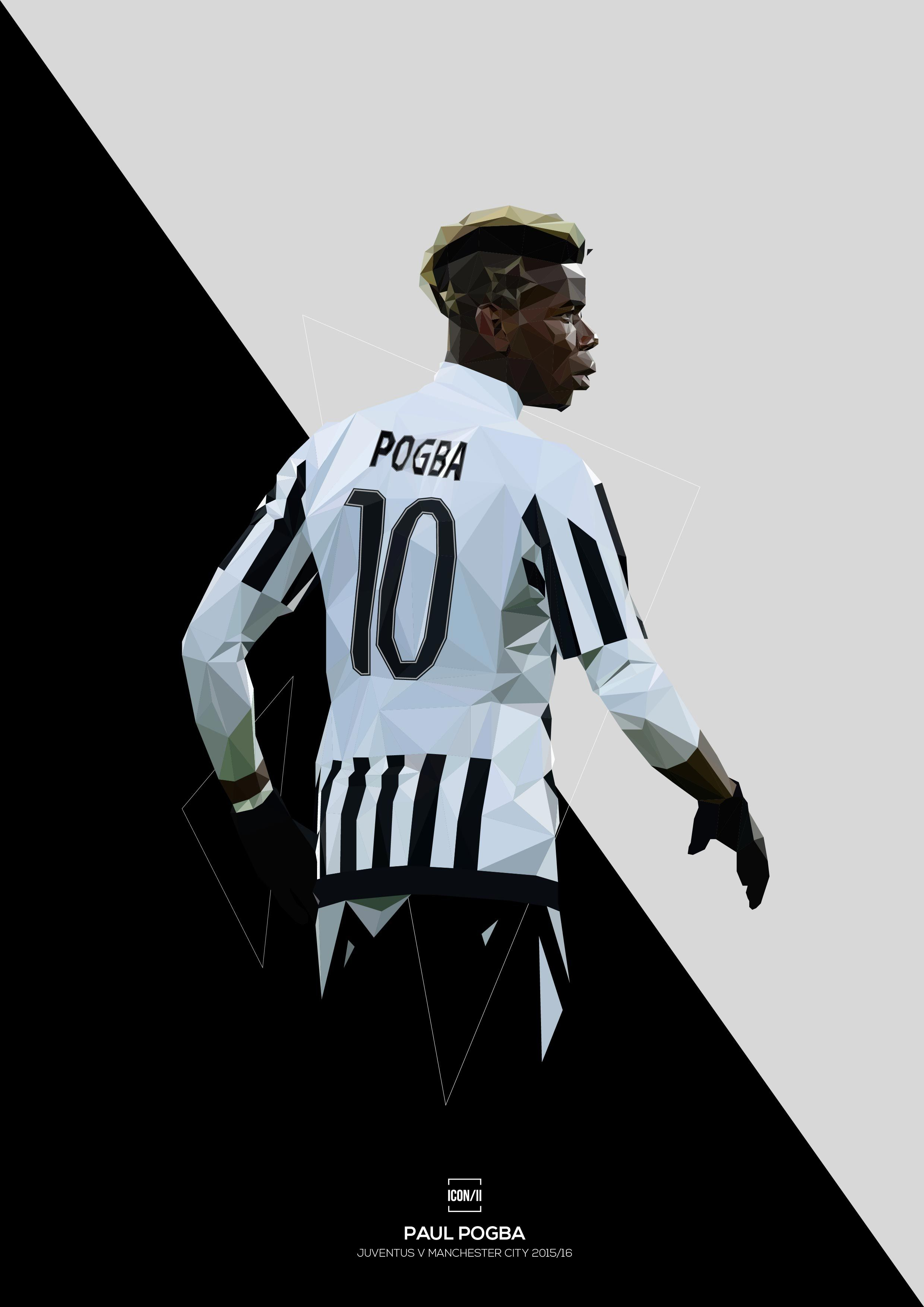 Juventus powerhouse Paul Pogba.High quality full colour print on ...