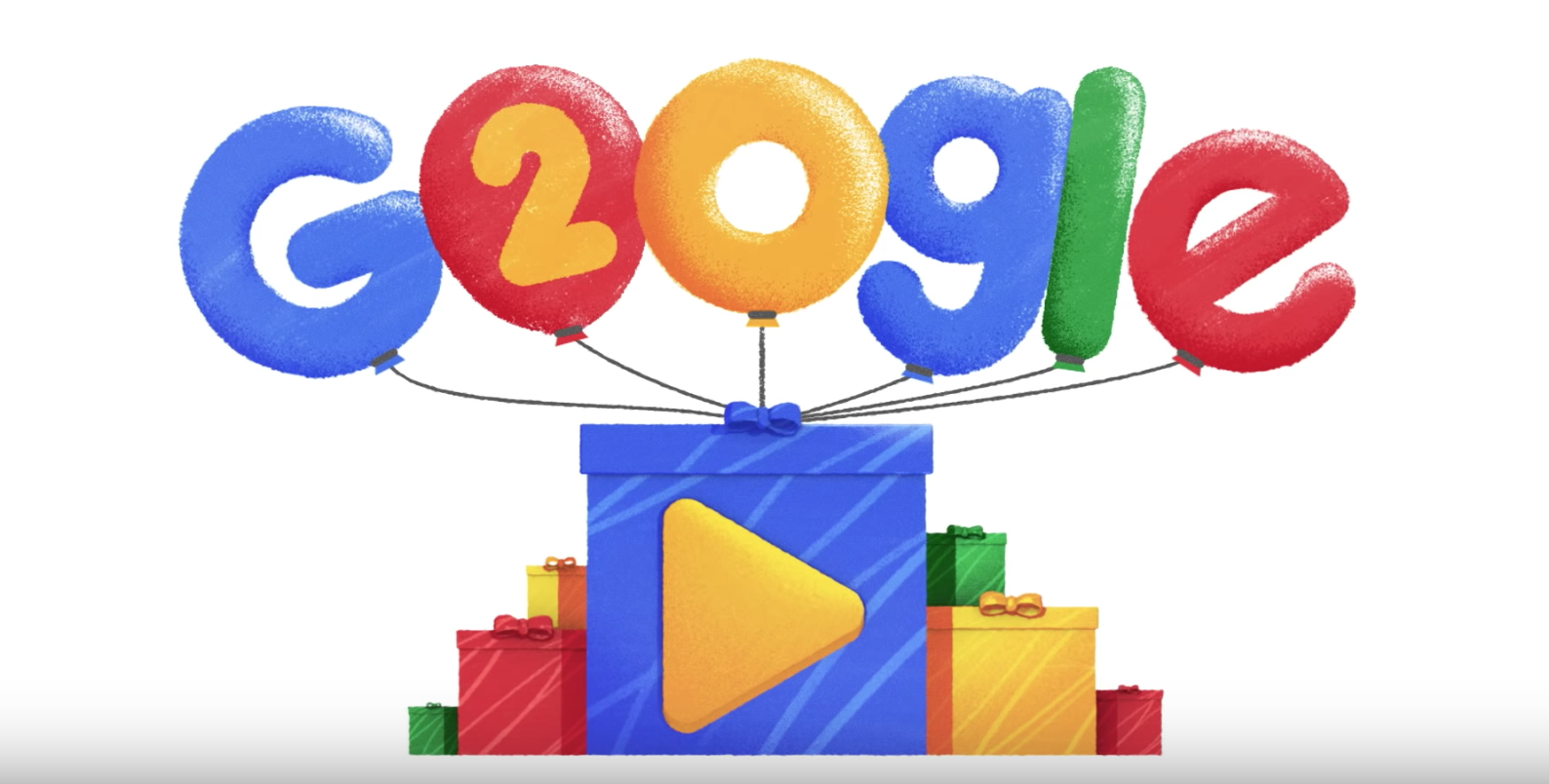 Google Doodle Animates Popular Questions for 20th Birthday