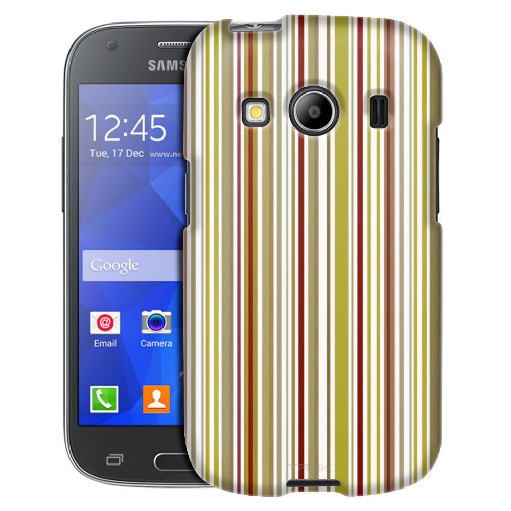 Samsung Galaxy Ace Style Colorized Vertical Bars on White Case