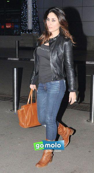 4711087108f Kareena Kapoor snapped at Mumbai Domestic Airport