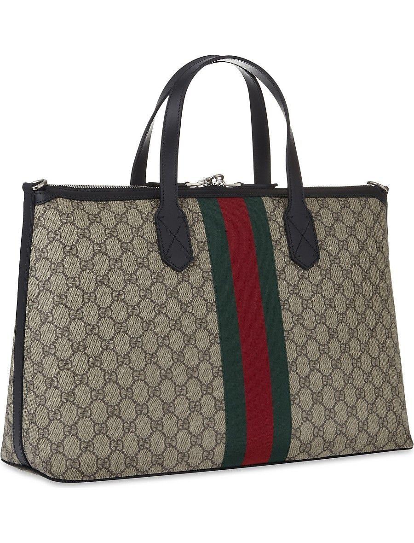 Gucci Supreme Duffle Bag Selfridges