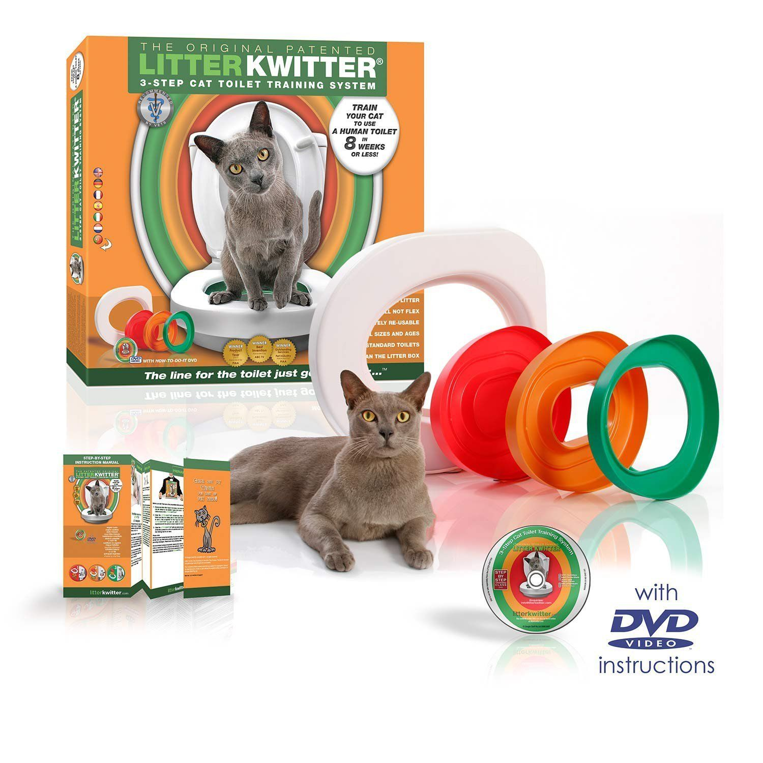 Litter Kwitter Toilet Training System Check Out This Great Product This Is An Amazon Affiliate Link Cat Toilet Training Cat Toilet Cat Training