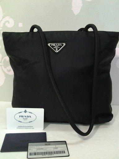 25615a9aa9e8 Authentic Prada Tessuto City Nero Shoulder Bag Handbag B7352 Very chic!  Love this stain resistance shoulder bag.