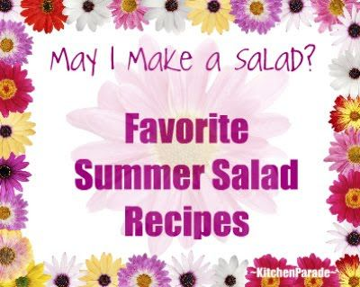 Favorite Summer Salad Recipes, a collection of recipes just for summer, all with Weight Watchers points @ KitchenParade.com