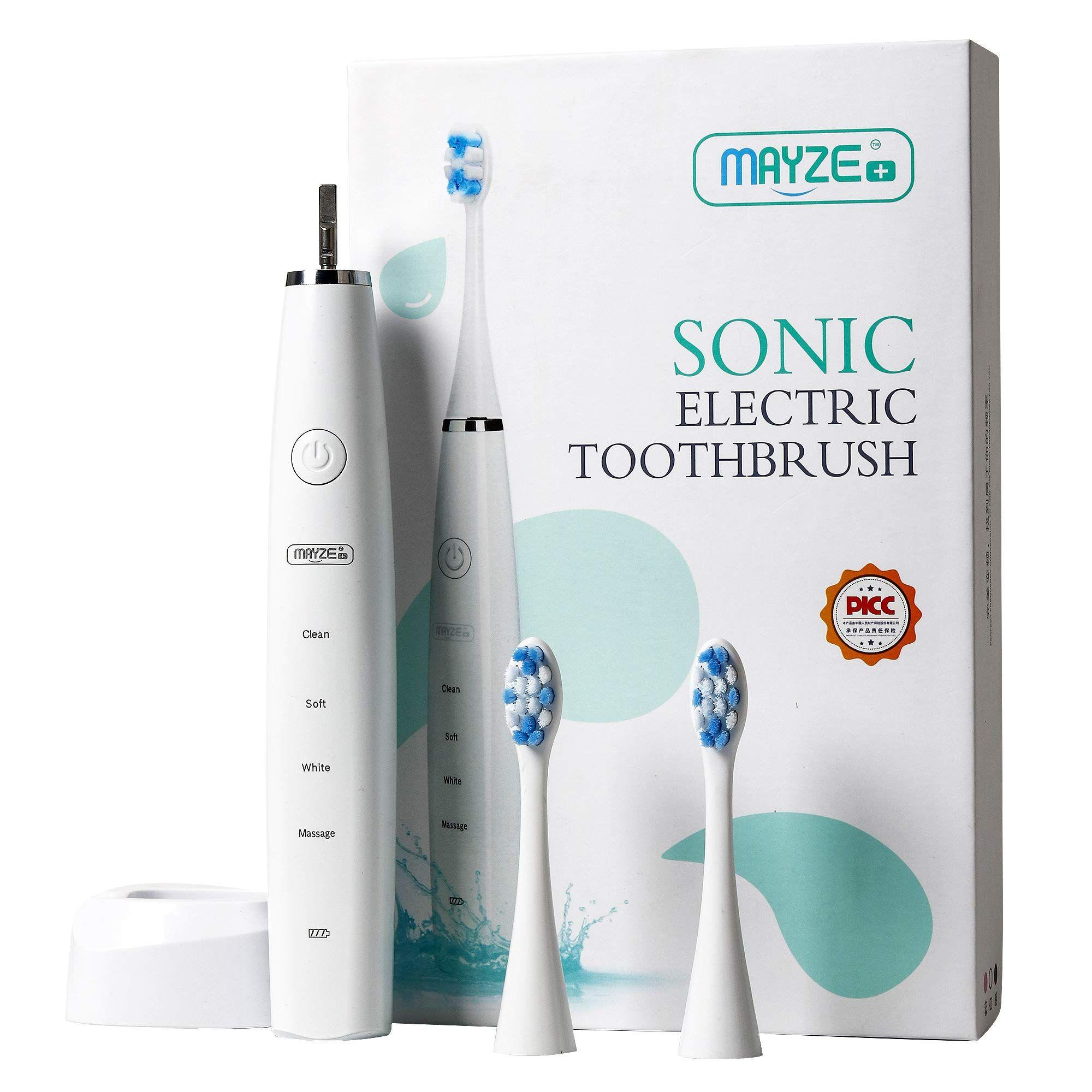 Rechargeable Sonic Electric Toothbrush Charging Base 4 Optional Modes Waterproof Elecforu Produtividade