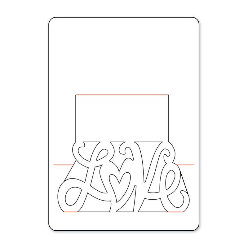 Шаблон 4д открытки, красивые слова любви