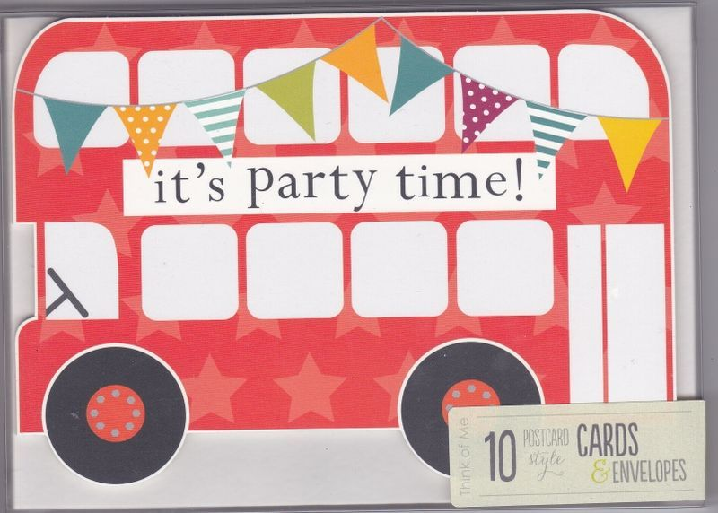 Pack of 10 Bus Party Invitations Lilys 2nd birthday – Packs of Party Invitations