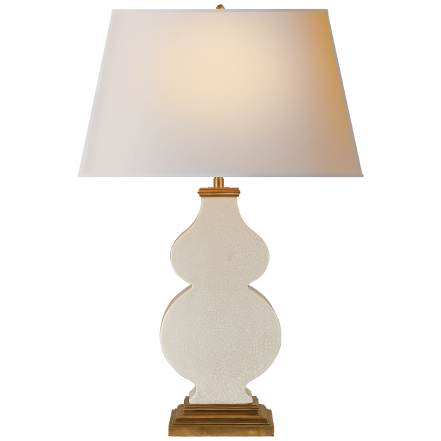Buy the visual comfort alexa hampton 1 light anita table lamp in tea stain porcelain with natural paper shade from homeclick at the discounted price