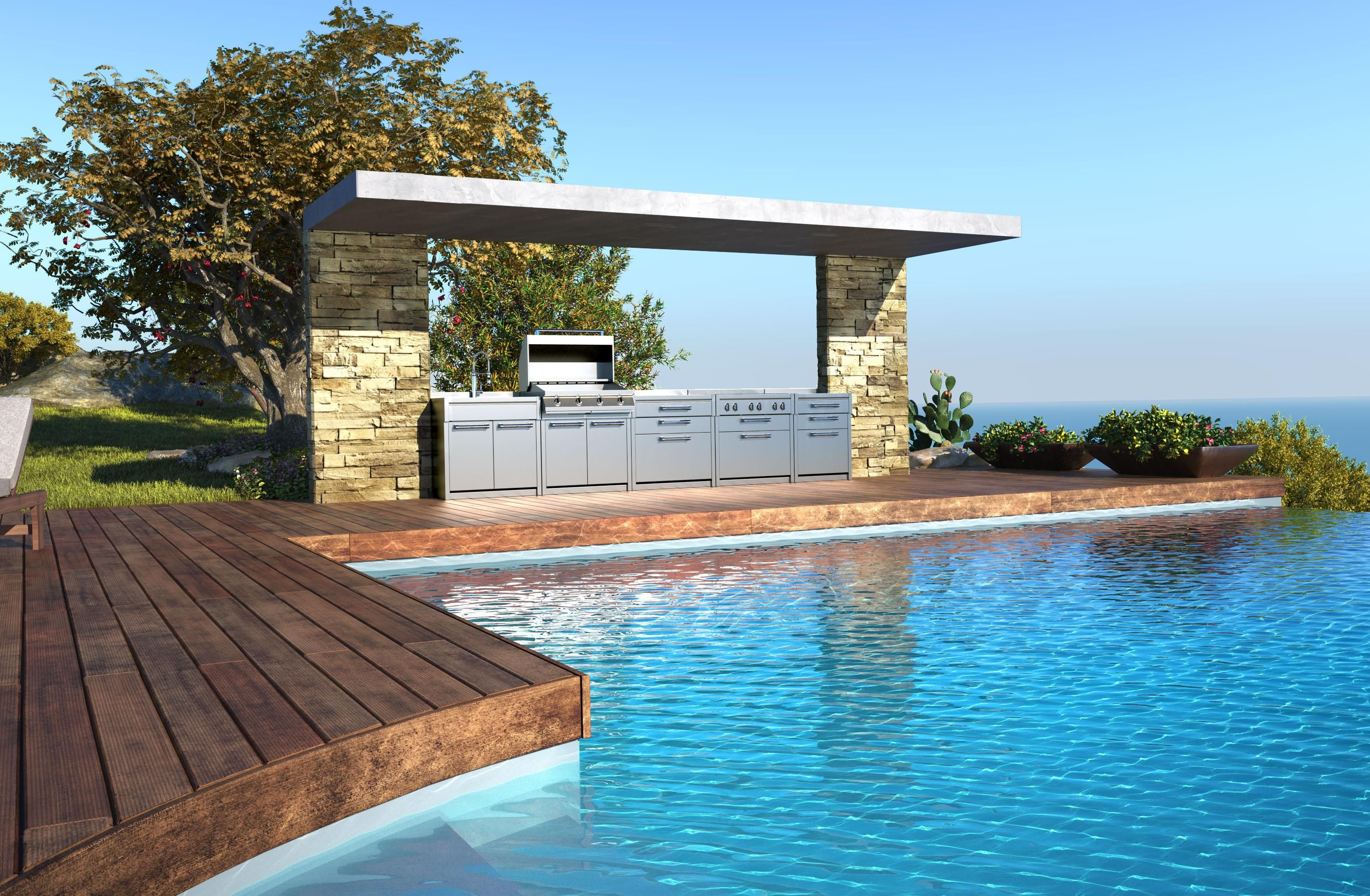 Stunning outdoor Alfresco area - Steel BBQ http://myalfresco.com ...