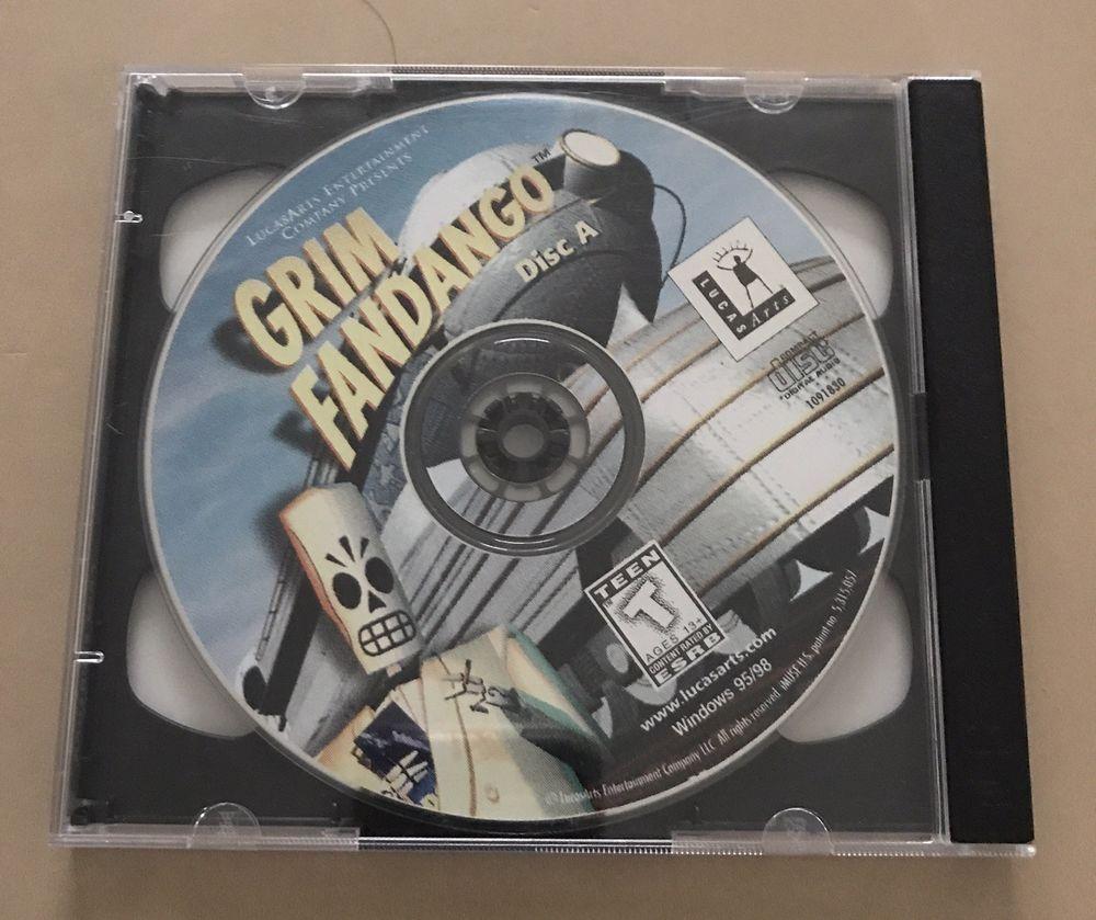 Details about Grim Fandango PC Game 1998 CD Windows 1995 | Vintage