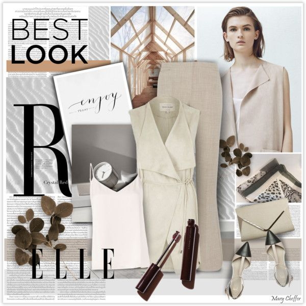 Beige and Grey for Fall by mcheffer on Polyvore featuring мода, L'Agence, MANGO, River Island, MaxMara, Anna Field, Prada, colorchallenge, sleevelesscoat and beigegrey