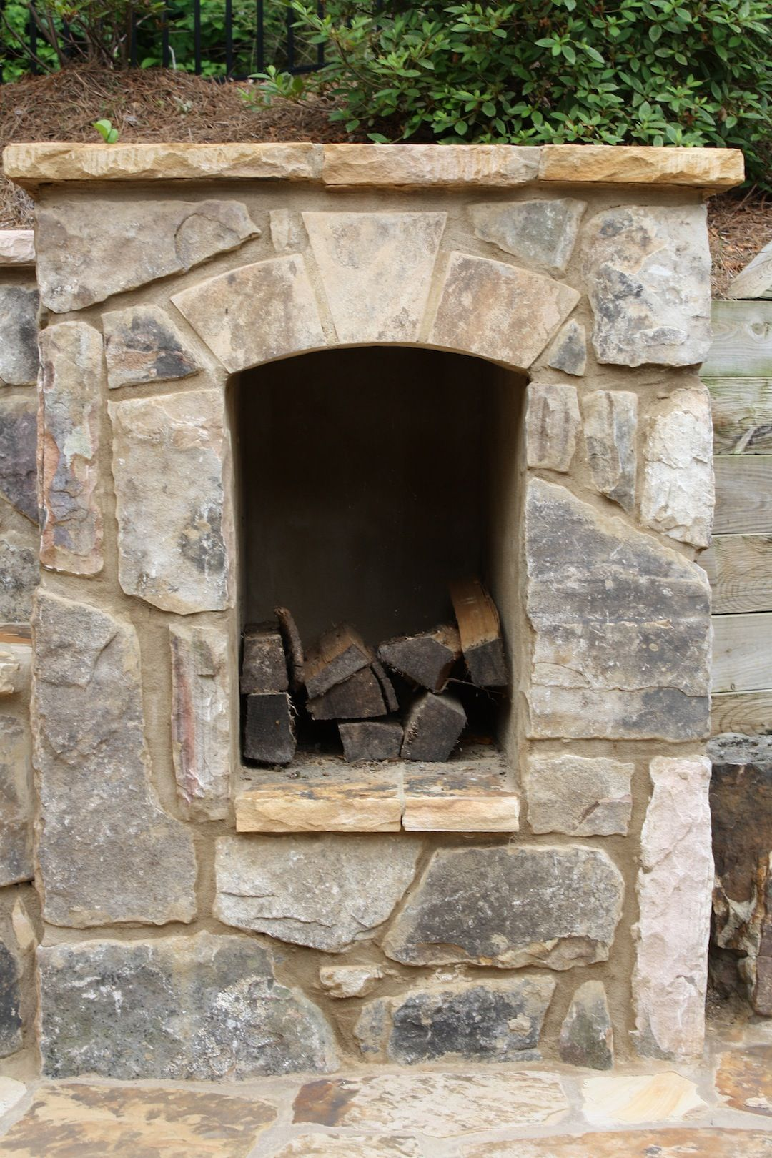 Wood Box For Outdoor Fireplace