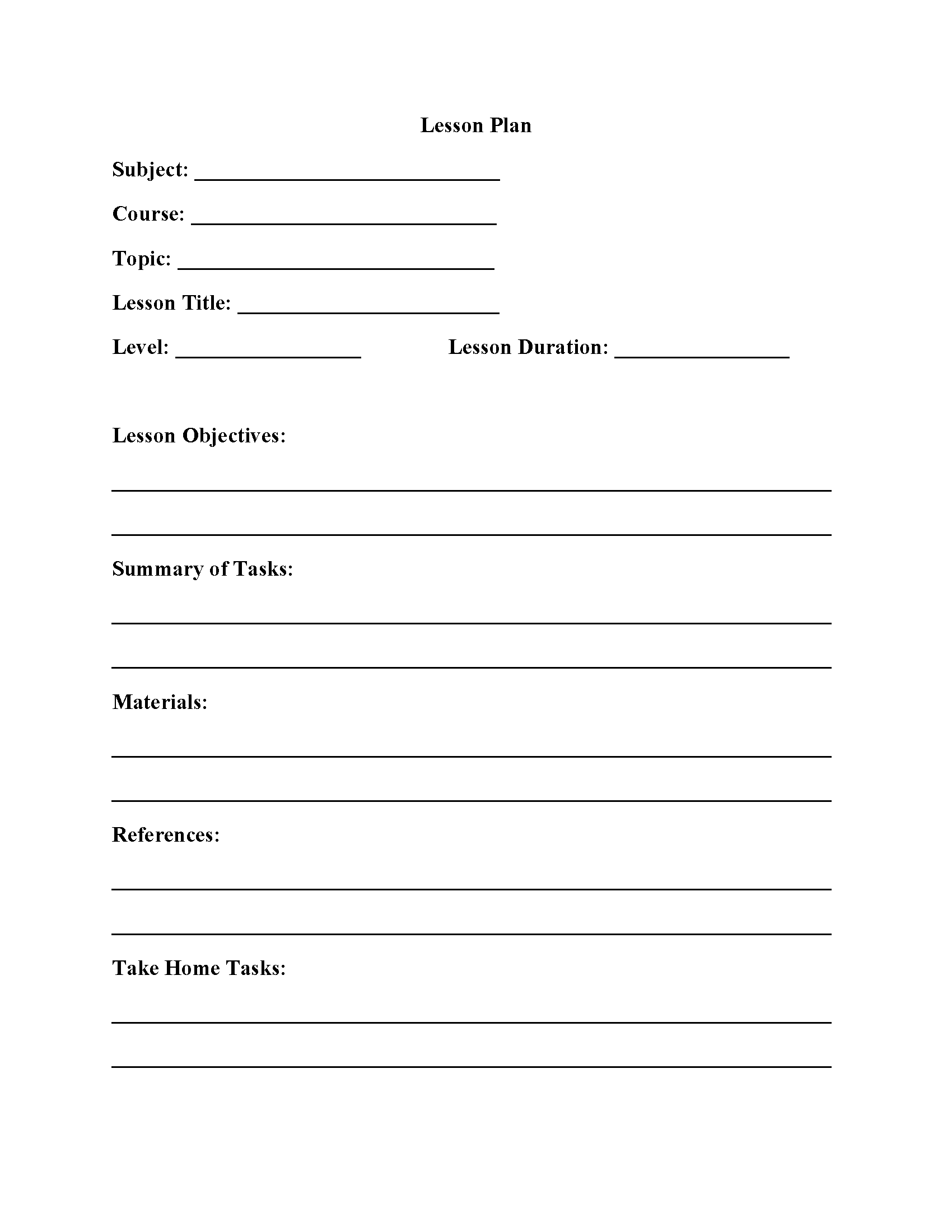Lesson Plan Template  Interactive Grammar Book
