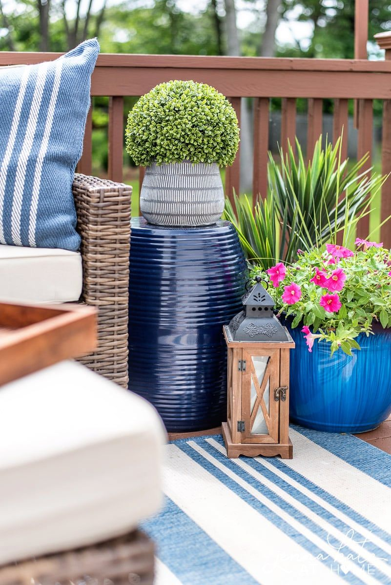 Deck Decor On A Budget New Summer Deck Decor Small Deck Space Deck Decorating Deck De In 2020 Deck Furniture Layout Outdoor Deck Decorating Small Deck Decorating Ideas