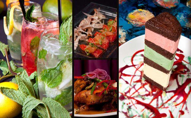Nuevo Latino cuisine from Argentina, Brazil, Columbia, Cuba, Peru, and Puerto Rico.