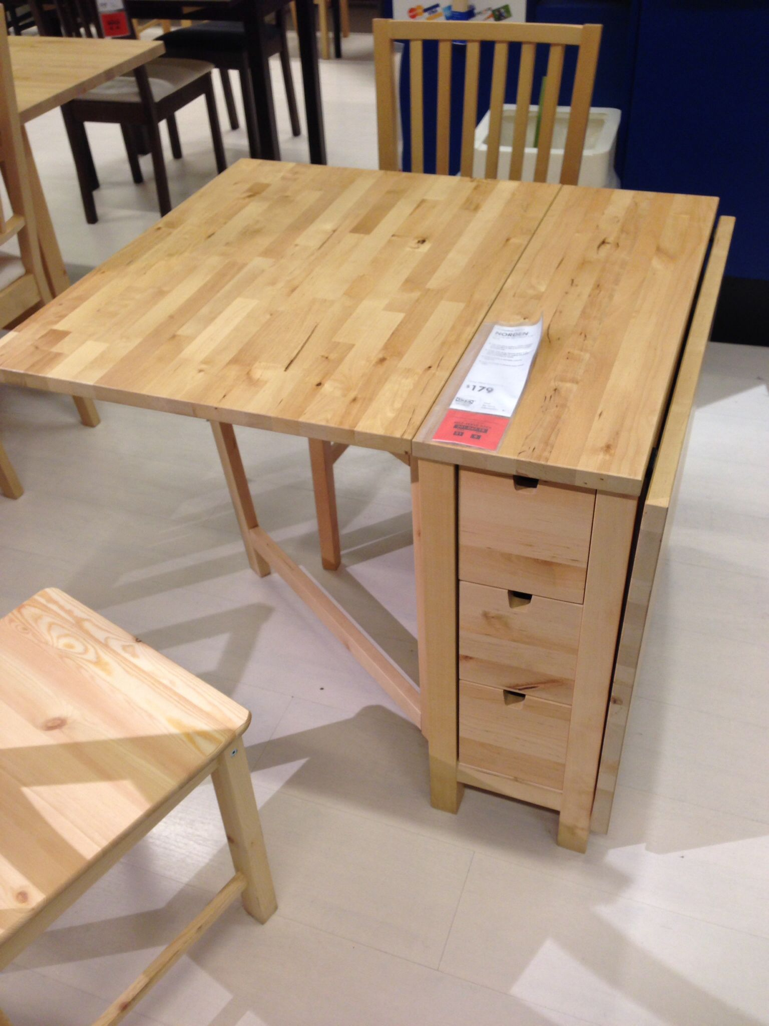 Folding table at IKEA Dining table design, Table for