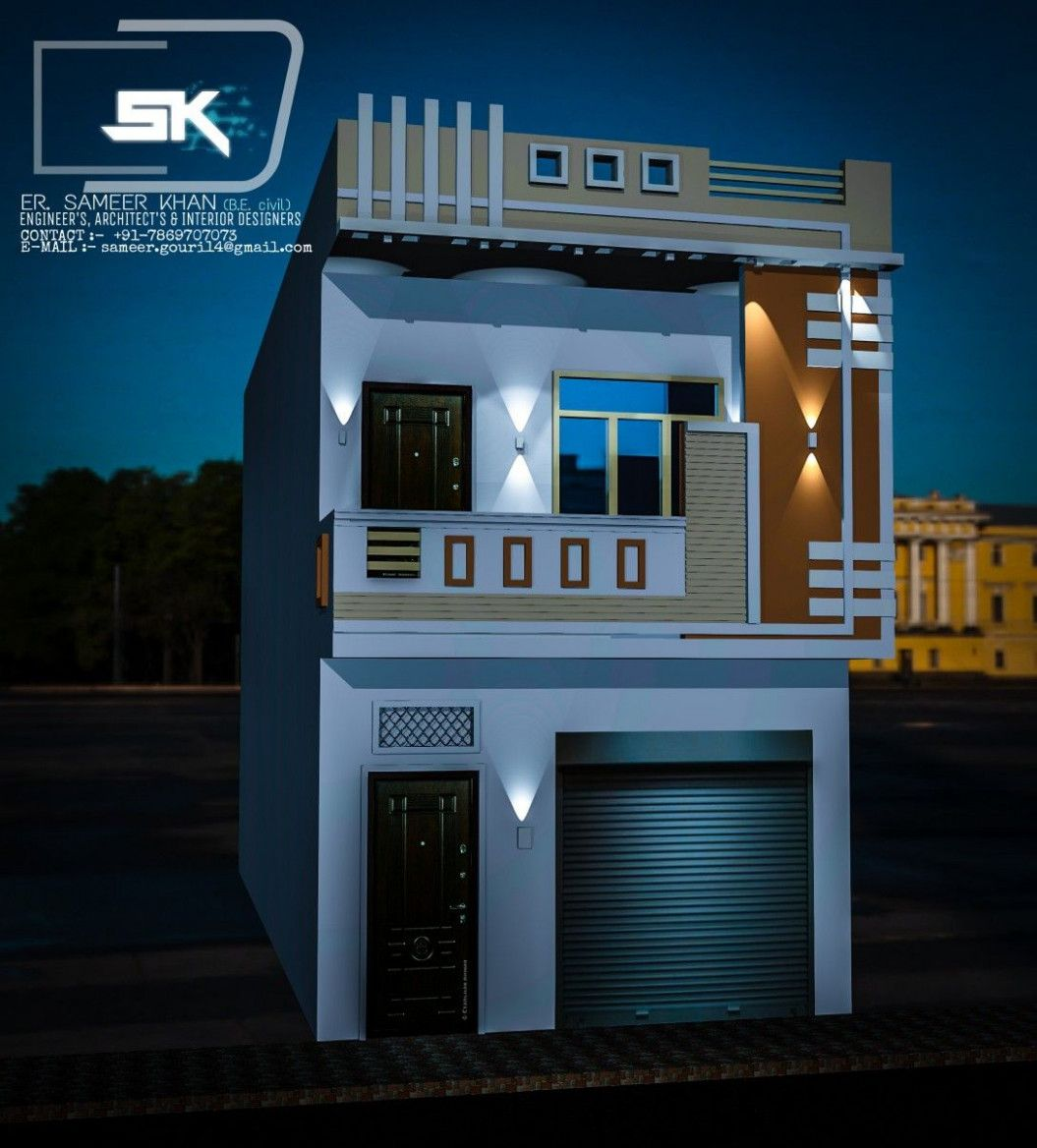Introducing Indian House Exterior Elevation With Shop. In