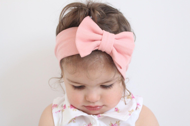 Baby Turban Headband, Baby Bow Headband, Adult Turban Headband, Newborn Photo Prop, Girls Headband | Dusty Rose / Blush Pink Bow Headband by missgigglebuns on Etsy https://www.etsy.com/listing/227721129/baby-turban-headband-baby-bow-headband