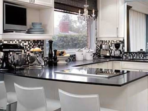 Perfect Image Of: Kitchen Ideas White Cabinets Black Countertops