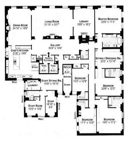 778 Park Avenue Penthouse Apartment Floor Plan Floor Plans Apartment Floor Plans
