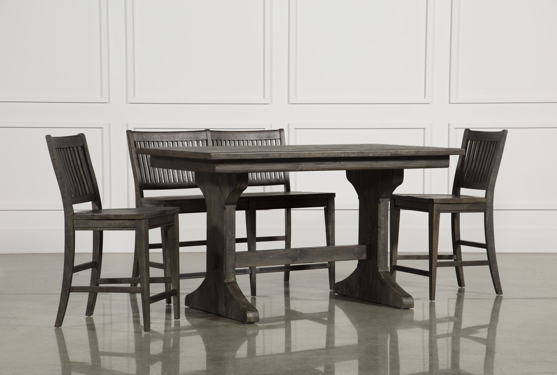 Valencia 4 Piece Counter Set W Bench Counter Stool Dining Room